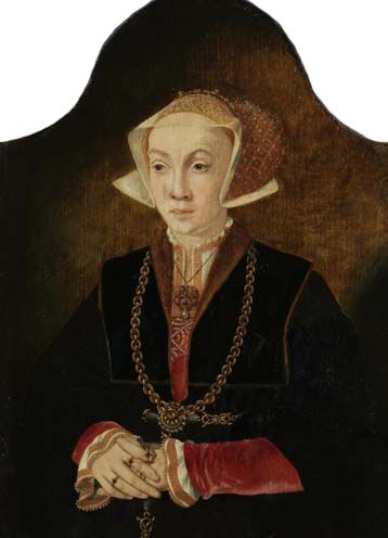 A portrait of Anne, Princess of Cleves. Attributed to Barthel Bruyn, 1530s. Trinity College, Cambridge, UK.