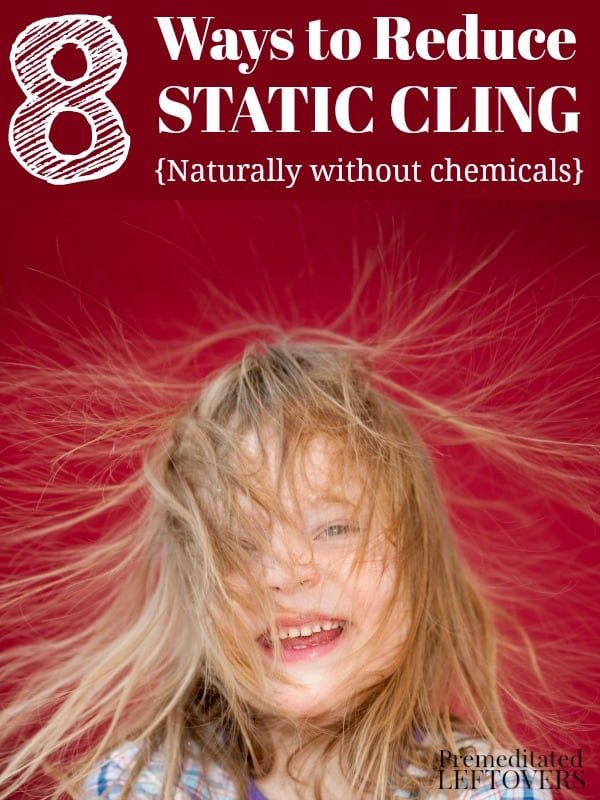 8 Ways to Reduce Static Cling - You don't have to use chemicals to get rid of static clean. Give these natural tips for reducing static cling a try.