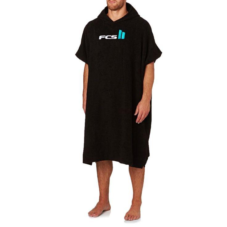 FCS Surf Accessories - FCS Poncho Towel - Black