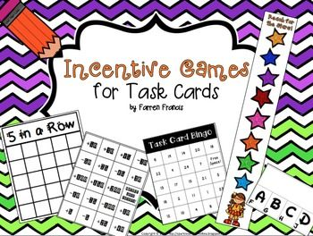 Do you have stacks of task cards laying around? Are you and your kids burned out on Scoot?  Try one of these five fun and motivating games instead- perfect for any set of task cards you might have!Games included:5 in a Row, Reach for the Stars, ABCD Flip, Risky Business, and Task Card Bingo.