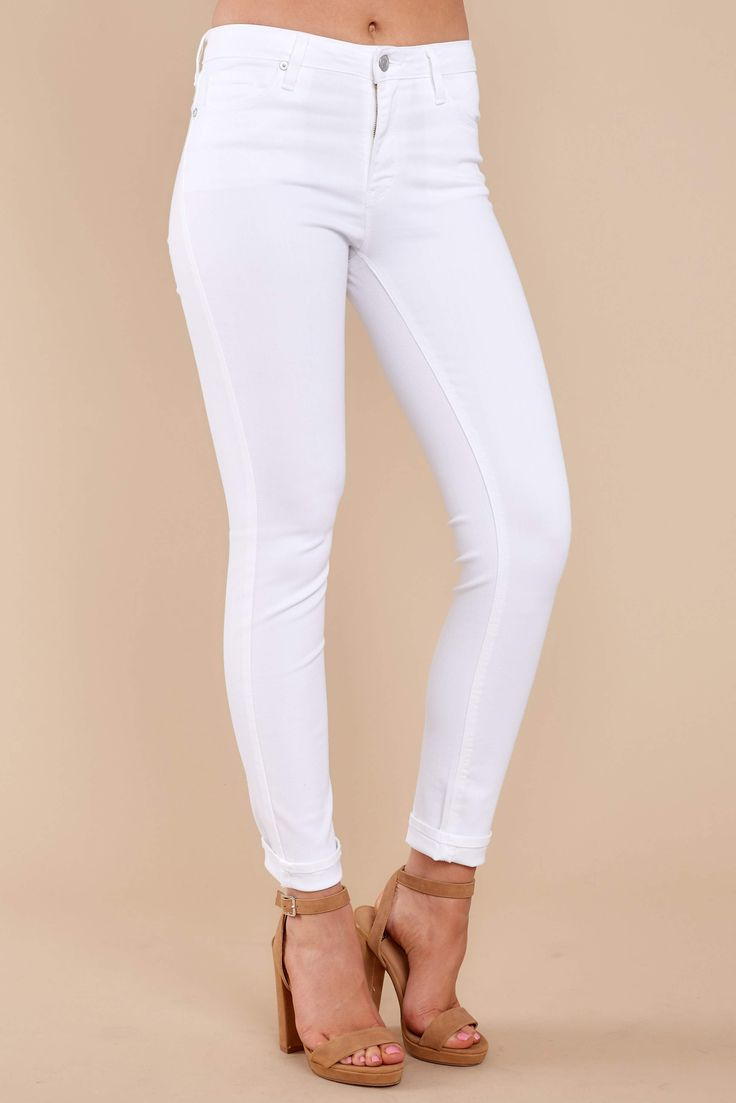 Every girl has Basic Needs.... things like food (to keep you alive), money (so you can life your life) and these White Skinny Jeans (because you need a trusty g