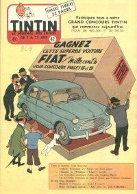 Journal de TINTIN édition Belge N° 42 du 19 Octobre 1955 - Grand concours Tintin