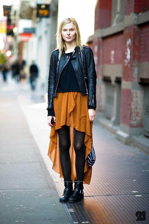 +Street Fashion, Colors Combos, Skirts, Clothing, Street Style, Outfit, Latest Fashion, Leather Jackets