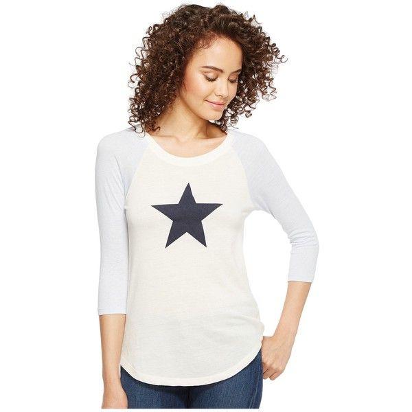 Alternative Eco Jersey Raglan Baseball T-Shirt (Eco Ivory/Eco Glacier... ($31) ❤ liked on Polyvore featuring tops, t-shirts, white t shirt, raglan t shirt, 3/4 sleeve baseball t shirt, blue t shirt and 3/4 sleeve t shirts