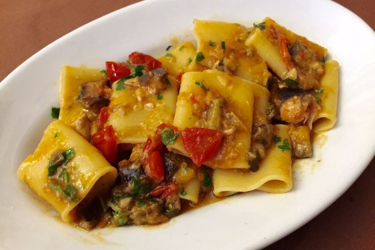 Paccheri with cherry tomatoes and anchovies - An authentic Neapolitan recipe made with 'Paccheri' pasta