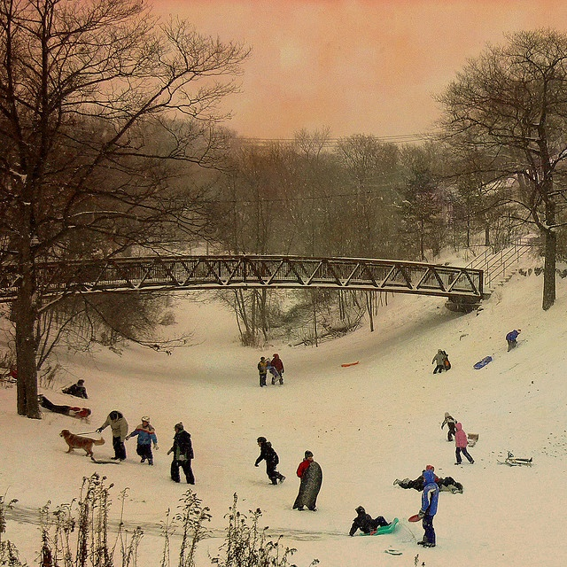 makes me nostalgic for snow days - would play till we couldn't feel our toes......then fuss about going home.......