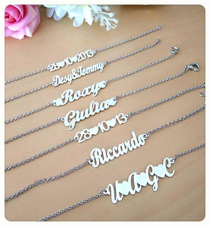 #bracciale #braccialetto #bijoux #nome #data #personalizzabile #braccialenome