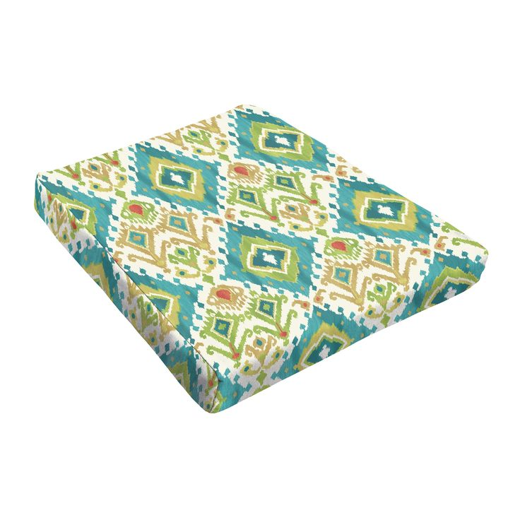 Sloane Green Ikat Outdoor Tapered Chair Cushion