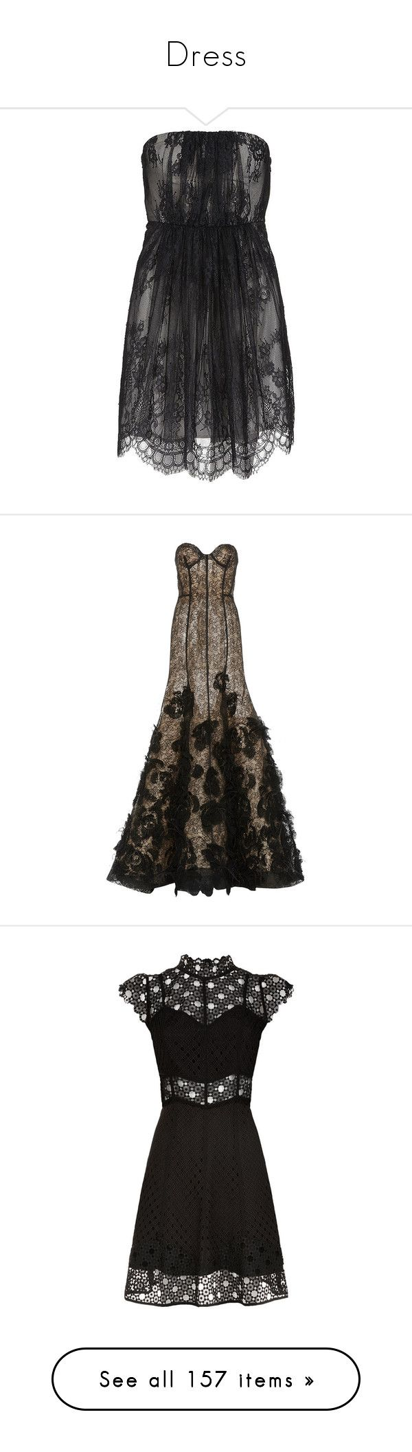 """""""Dress"""" by olivia-reese-03 ❤ liked on Polyvore featuring dresses, short dresses, vestidos, black dresses, short lace cocktail dress, lace cocktail dresses, short strapless dresses, zipper dress, gowns and long dresses"""