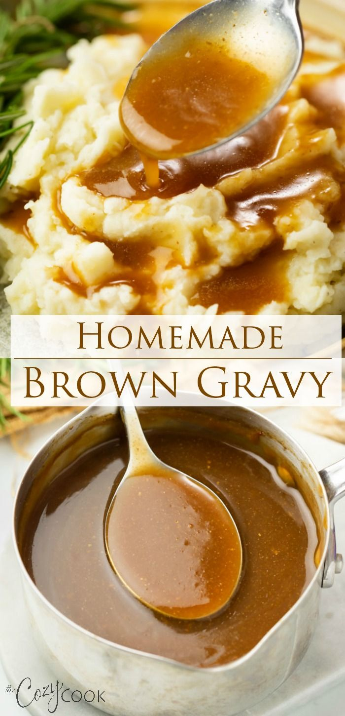 Homemade Brown Gravy No Drippings Needed Homemade Brown Gravy Beef Gravy Recipe Homemade Gravy