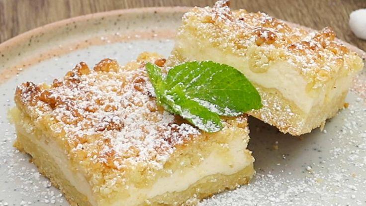 Quarkkuchen auf der Platte   – Kuchen