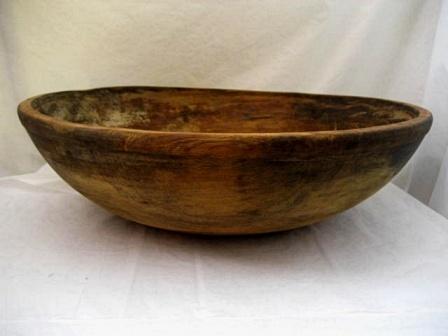 Antique wood dough proofing bowl