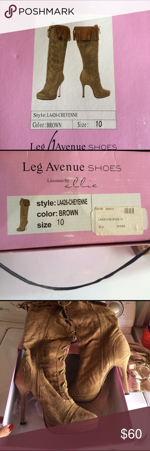 Leg Avenue Indian Boots Purchased these beautiful boots years ago for my Pocahontas costume. Worn twice. leg avenue Shoes