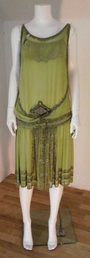 Vintage 1920's Great Gatsby style flapper dress by Scott V. Stewart