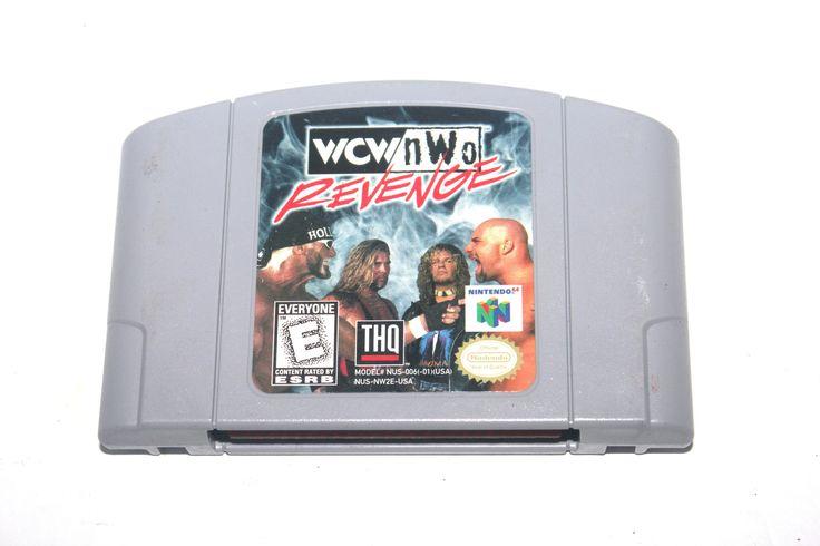 Vintage 1996 WCW NWO Revenge Game Nintendo 64, Nintendo Games, Vintage Toys, Antique Alchemy