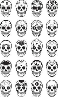 SEE MORE SUGAR SKULL TATTOO COLLECTIONS