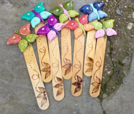 Segnalibri farfalla (Polymer Clay - Fimo - Cernit) https://www.facebook.com/MondoDiSisina https://www.etsy.com/it/shop/MondoSisina