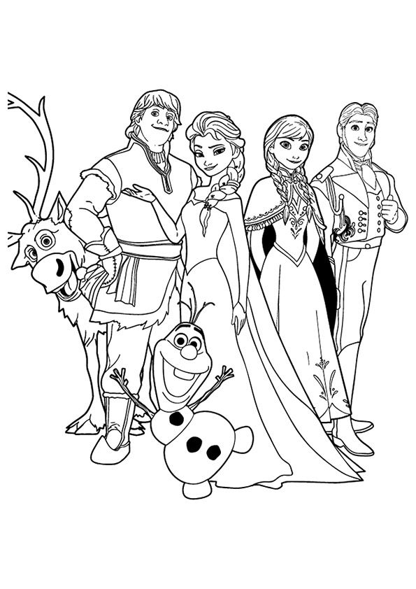 Pin By M H On Baby S 1st Frozen Coloring Pages Frozen