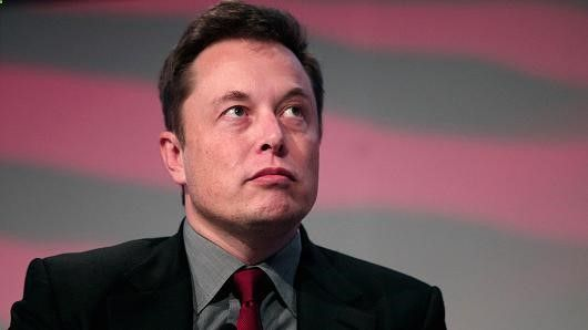 Elon Musk, co-founder and CEO of Tesla Motors, speaks at the 2015 Automotive News World Congress January 13, 2015 in Detroit, Michigan.