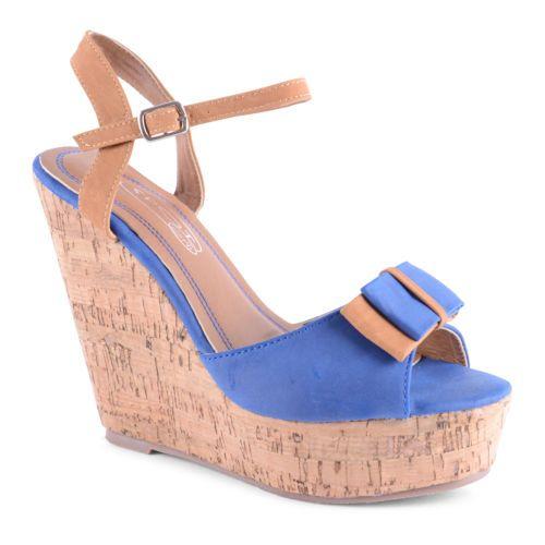 Platform Sandals Slingback Peep Toe Patent high heeled Shoes blue uk 3/36 sophia