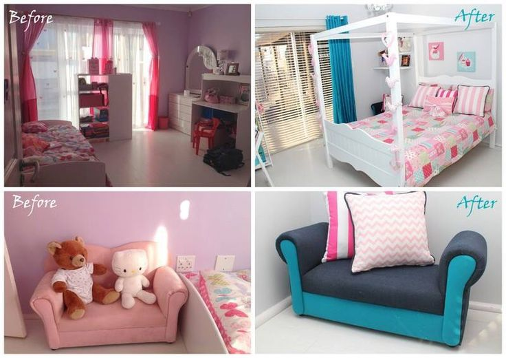 Girls room room redecorating project for a klient in Haasendaal, Kuilsriver