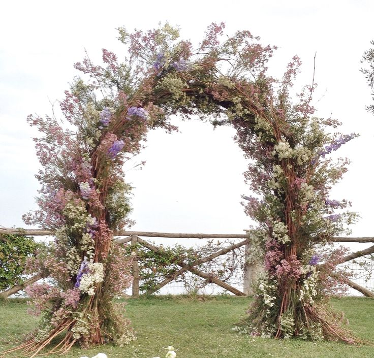 The floral arch for the Ceremony