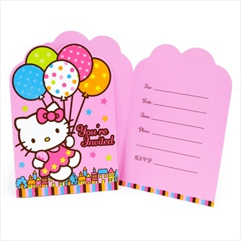 Birthday favors displaying Hello Kitty for exciting celebrations.Kitty Balloons, Dreams Diecut, Birthday Parties, Hello Kitty Birthday, Amscan Hello, Balloons Dreams, Dreams Invitations, Parties Invitations, Hello Kitty Parties