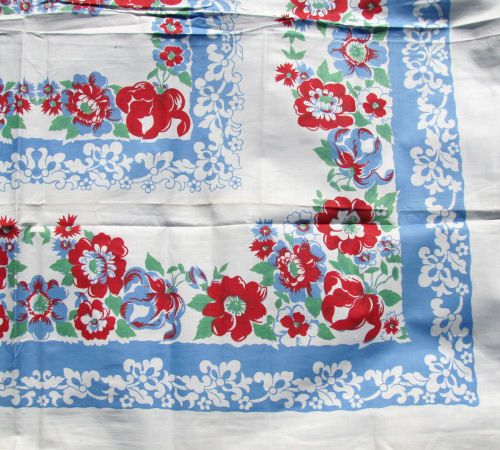 Retro Kitchen Linens: 141 Best Images About 1940's Tablecloths On Pinterest
