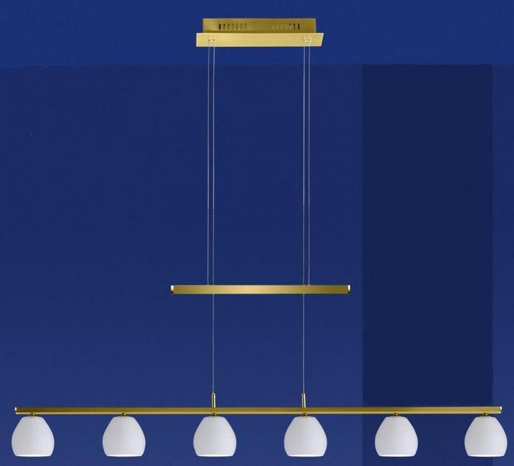 Deutsche Hängeleuchte Messing Höhenverstellbar 6 Flammig Touchdimmer - Nur 69€  Diese elegante Pendelleuchte zeichnet sich durch ihr modernes Design in Verbindung mit Zeitlosigkeit aus. Diese Leuchte ist bis zu 150 cm höhenverstellbar.