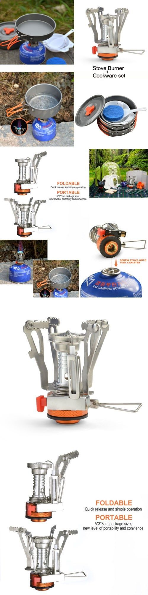 Camping Stoves 181386: Camping Stove Pot Pan Kit For Outdoor Backpacking Gearandhiking Cooking Equipment -> BUY IT NOW ONLY: $30.99 on eBay!