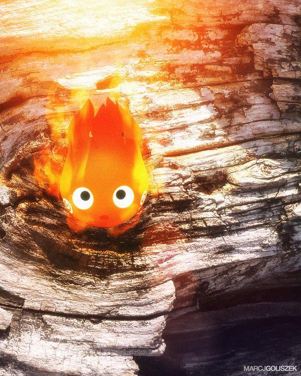 Calcifer - (Miyazaki) Howl's Little Demon by DarkPixelCG