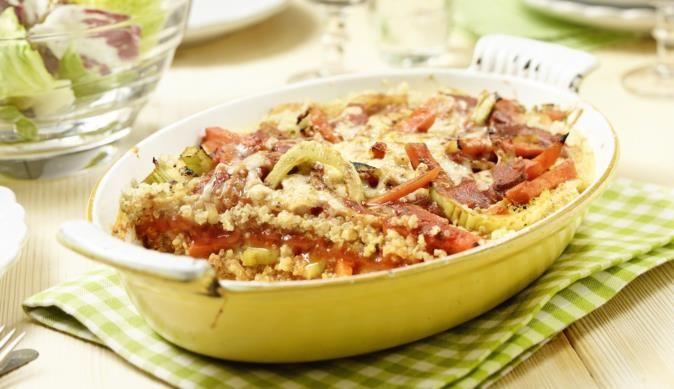 Fenchel, Quinoa und Greyerzer Käse in einem Auflauf? MAGGI vereint diese Zutaten zu einem wahren Geschmackserlebnis aus dem Ofen.