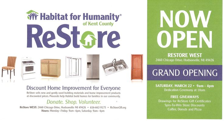 Grand opening for the habitat for humanity restore in