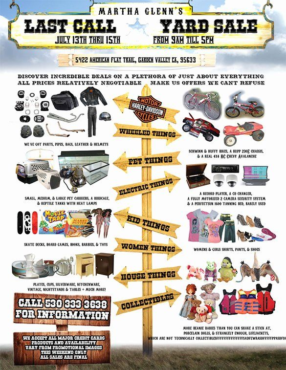 Free Editable Yard Sale Flyers Best Of 21 Best Yard Sale Flyer