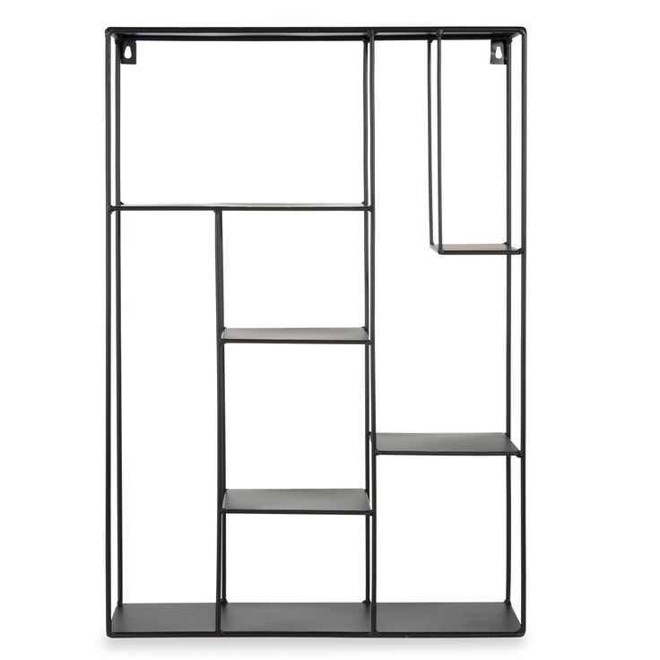 Wandrek, zwart metaal,  H 60 x B 40 x DI 10, YELLOW SUMMER - 29€ - maisondumonde