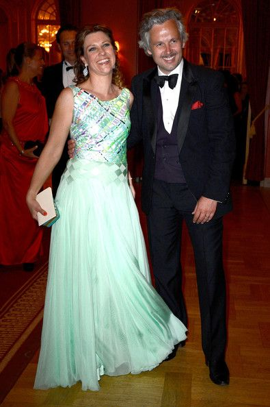 Princess Martha Louise of Norway and her husband Ari Mikael Behn attend a private dinner on the eve of the wedding of Princess Madeleine and Christopher O'Neill at The Grand Hotel on 7 June 2013 in Stockholm, Sweden