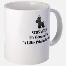 Black Schnauzer Little pain in the ass Mugs for