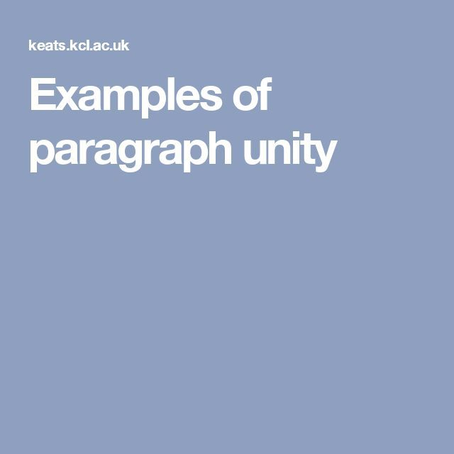 Examples Of Paragraph Unity With Images Esl Teaching English