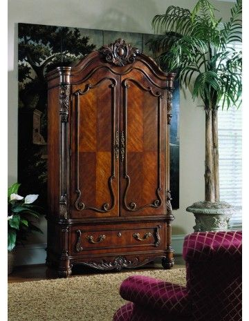 Pulaski Edwardian Armoire   Armoires And Media Cabinets   Bedroom