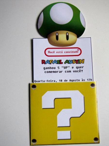 Casinha de boneca da Tia Bebel: Inspiração festa Super Mario...