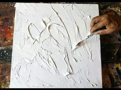 Acrylic abstract painting # demonstration # techniques # easy - YouTube