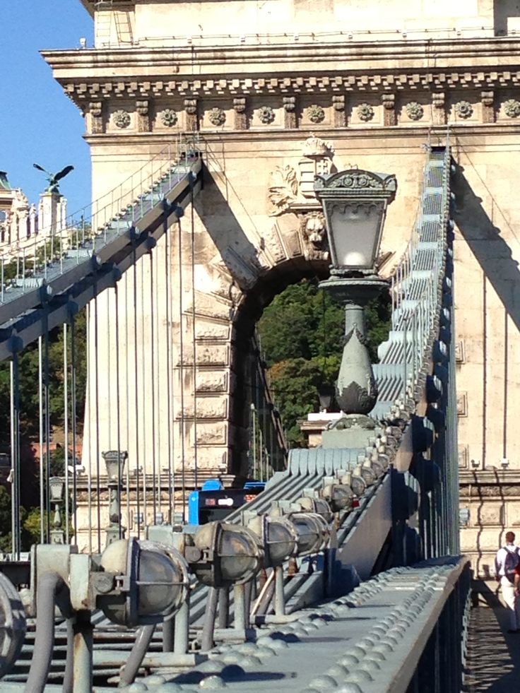 Budapest Chain Bridge.  Easy walk from our Sofitel Hotel.  I liked this hotel better than the others (4 season's and intercon) Easy walk to bridge