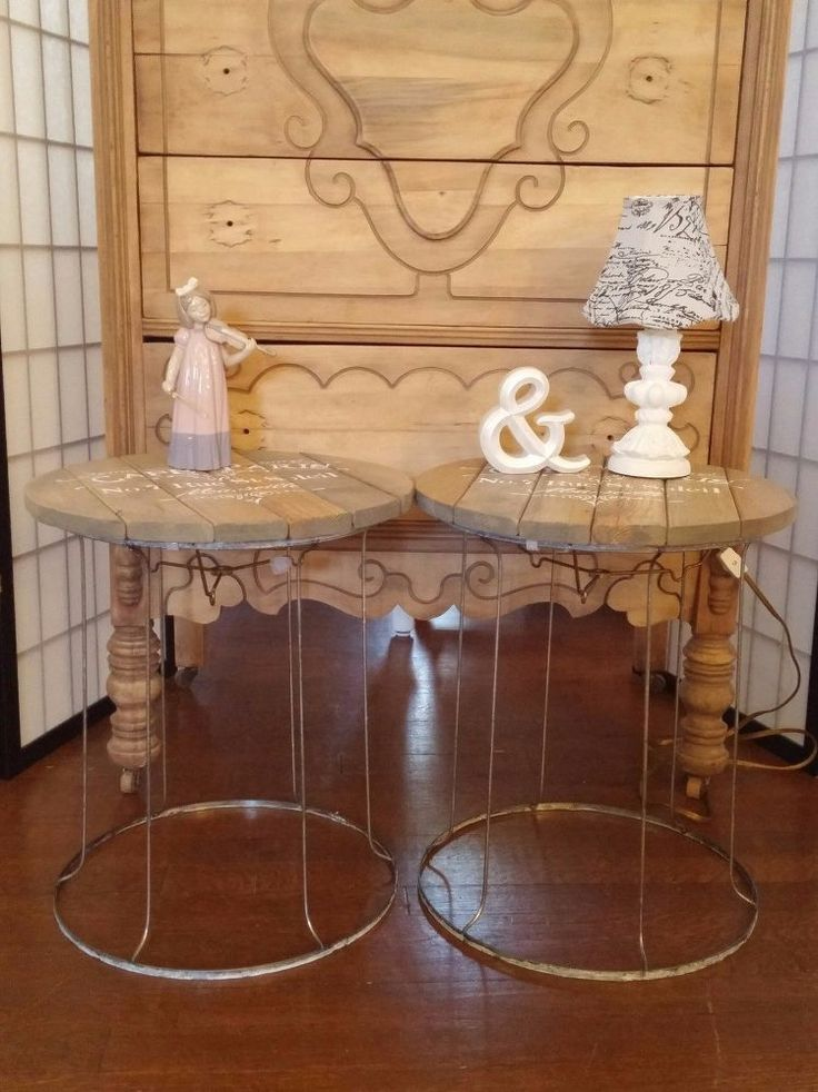 Lamp Shade Frame tables! This is the most clever use for lamp shades we've ever seen!