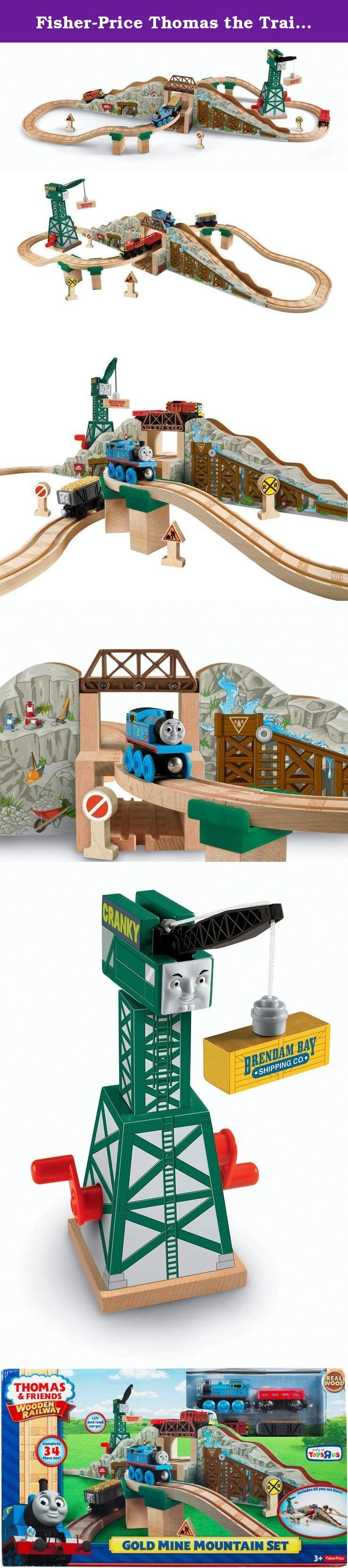 Fisher-Price Thomas the Train Gold Mine Mountain Set. Discover Gold with Thomas and his friends! Thomas and Salty are working hard at the mine! Cranky unloads their special cargo and they chug over the mountain for another load. Little engineers will have hours of fun creating adventures with this Gold Mine Mountain Set.