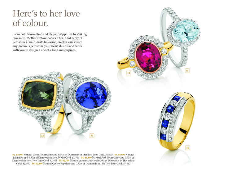 How about a coloured engagement ring?