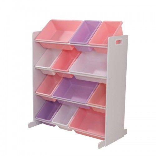 Sort it and Store it Bin Toy Orgniser Unit Pastel  White.  Available at Kids Mega Mart Online Shop Australia