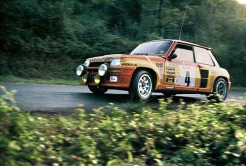 Turbo Renault Maxi Rally car Group B