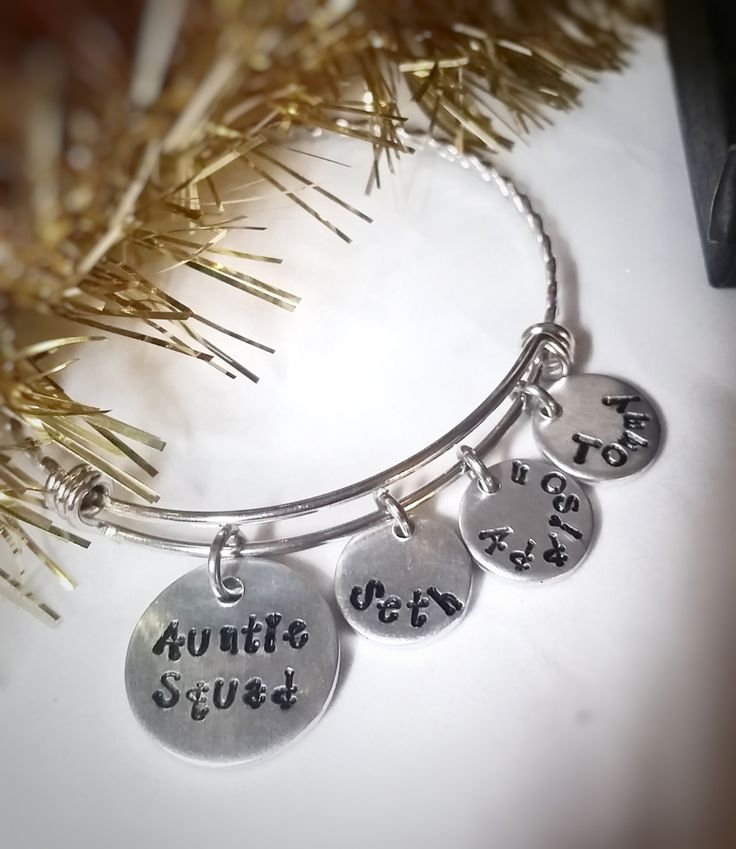 Auntie Squad - Best Auntie Ever - Auntie Squad Bracelet - Gift for Aunt - Personalized Aunt Jewelry - Auntie Christmas Gift - Aunt Birthday by ImpressionsbyJacleen on Etsy