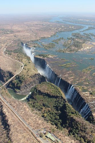 Victoria Falls from the sky. I want to go see this place one day. Please check out my website thanks. www.photopix.co.nz