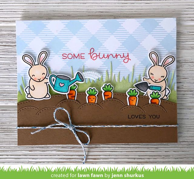 Lawn Fawn Intro: Some Bunny, Stitched Garden Border, Little Flowers + Happy Easter Line Border
